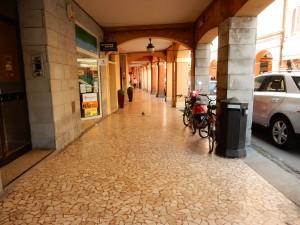 Portico Sidewalk--I love the detail of the sidewalk - Bologna, Italy