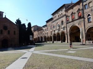 Piazza at Basilica di Santo Stefano Courtyard - Bologna, Italy