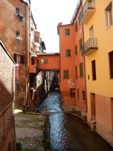 Canal with house - Bologna, Italy