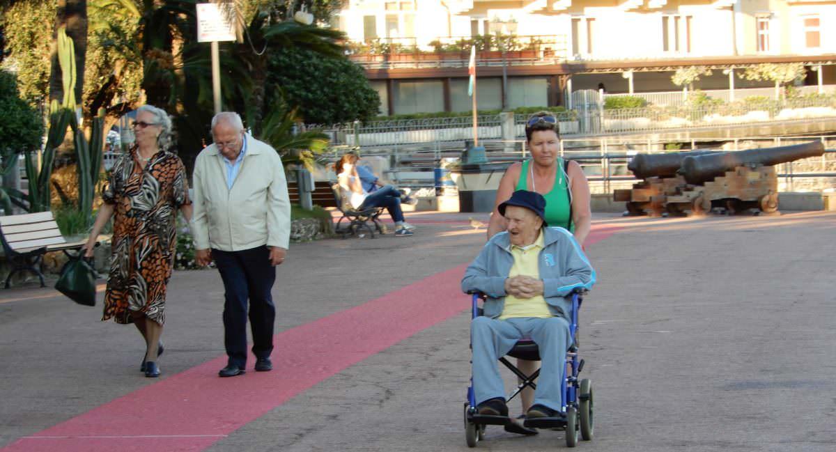 Enjoying the promenade in Rapallo, Italy