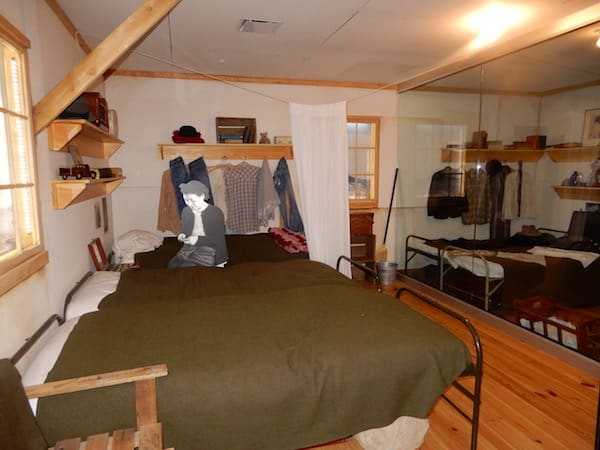 Example of bunk room