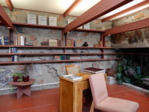 Frank Lloyd Wright's room & office, Taliesin West, Arizona