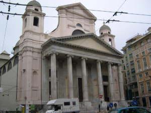 Genoa, Italy - Basilica of the Santissima Annunziata del Vastato