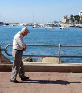 I love my shadow on the Rapallo promenade