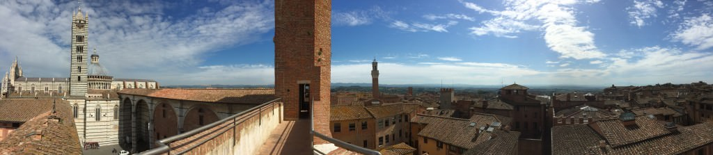 Looking over Siena