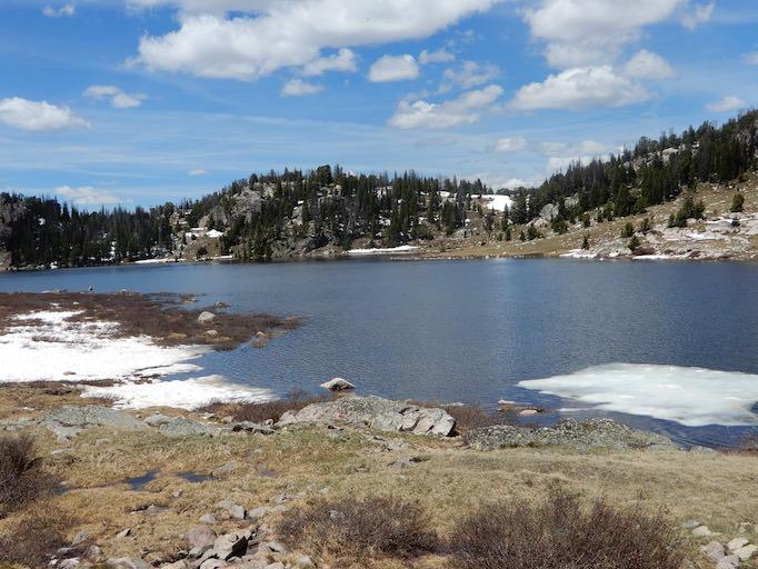 Long Lake ice floe