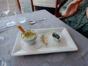 Pistachio tiramisu with pistachio sauce
