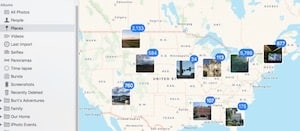 Places in Apple's Photos Program