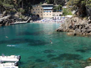 San Fruttuoso, one of the beaches, Italy