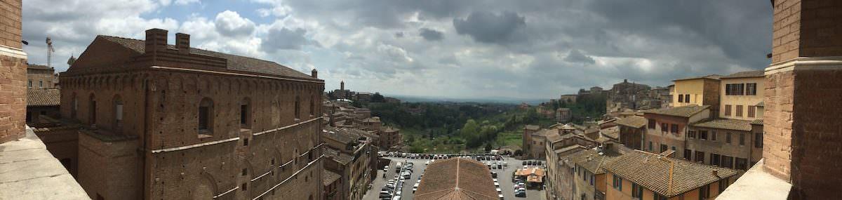 Stormy Siena, Italy