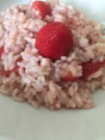 Italian risotto with strawberries