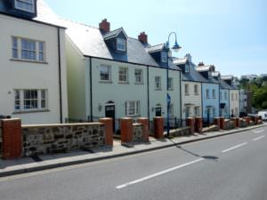 Sloping Street-colorful houses
