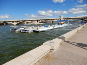 Tempe Town lake, rental boats, Arizona