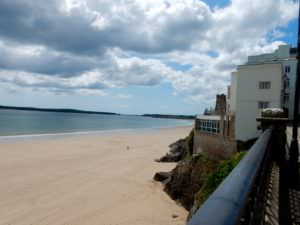 Tenby beach toward Caldey Island