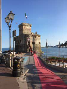 Castle & start of Red Carpet, Rapallo, Italy