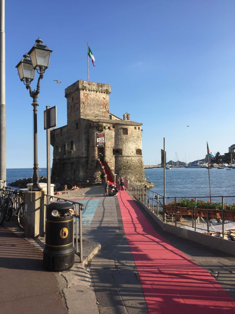 Castle & start of Red Carpet, Rapallo, Italy
