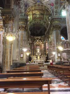 Church of Santa Margherita d'Antiochia, elaborate interior, Santa Margherita