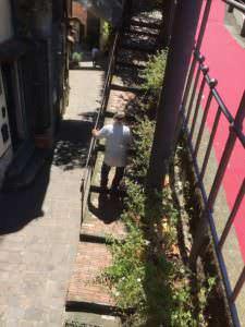 Elderly gent making his way up