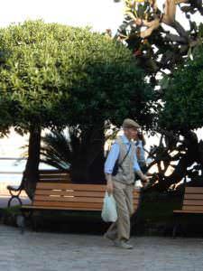 Enjoying the sidewalk, Rapallo, Italy