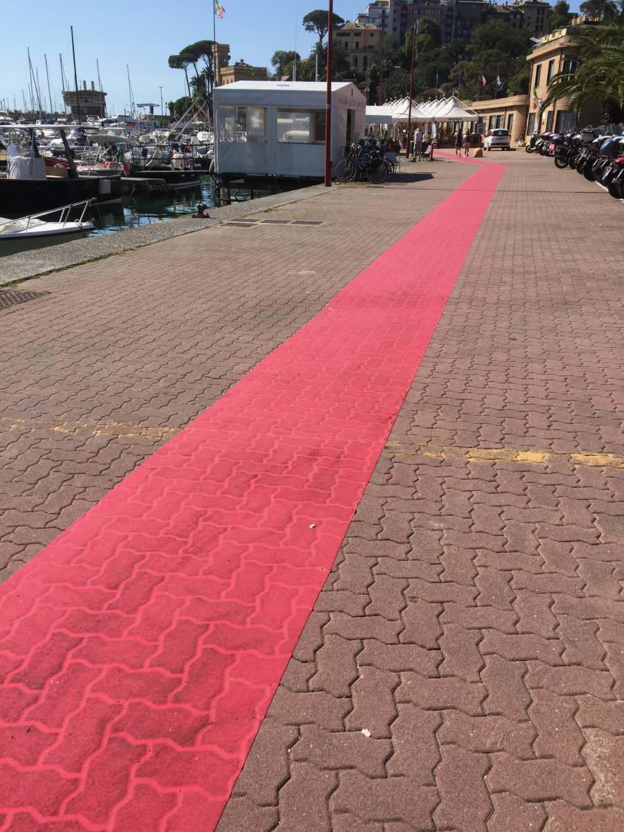 Follow the red carpet, Rapallo, Liguria