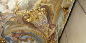 Fresco with arm, Palazzo Rosso, Genoa, Italy