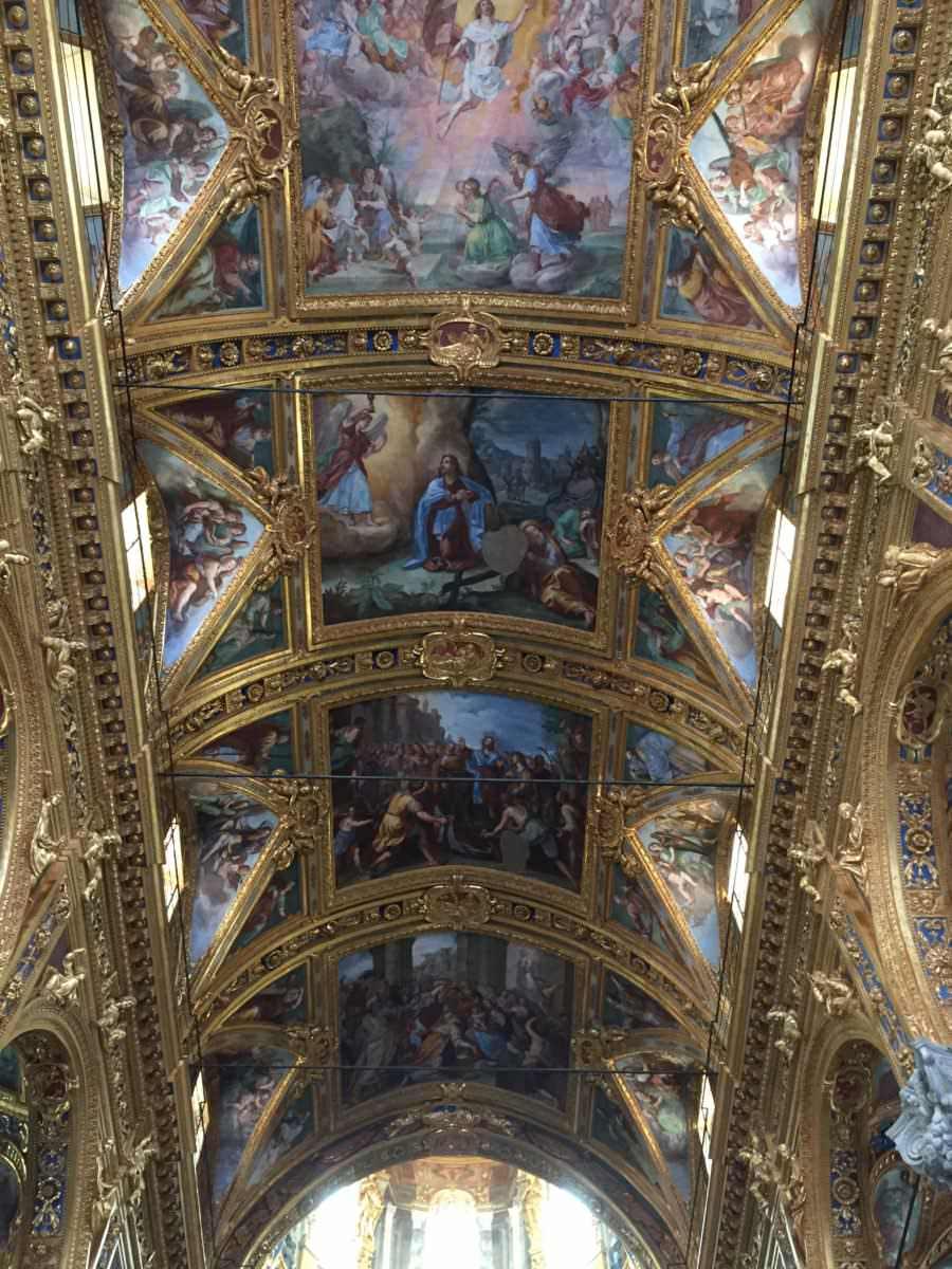 Genoa's Basilica of the Santissima Annunziata del Vastato, Ornate Ceiling
