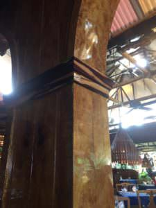 Mama's Fish House shiny woodwork