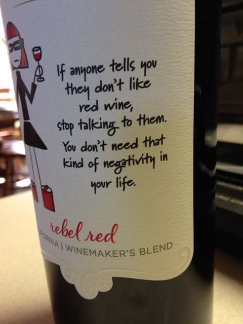 Middle Sister Rebel Red - California wine