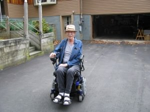 Power chair in action