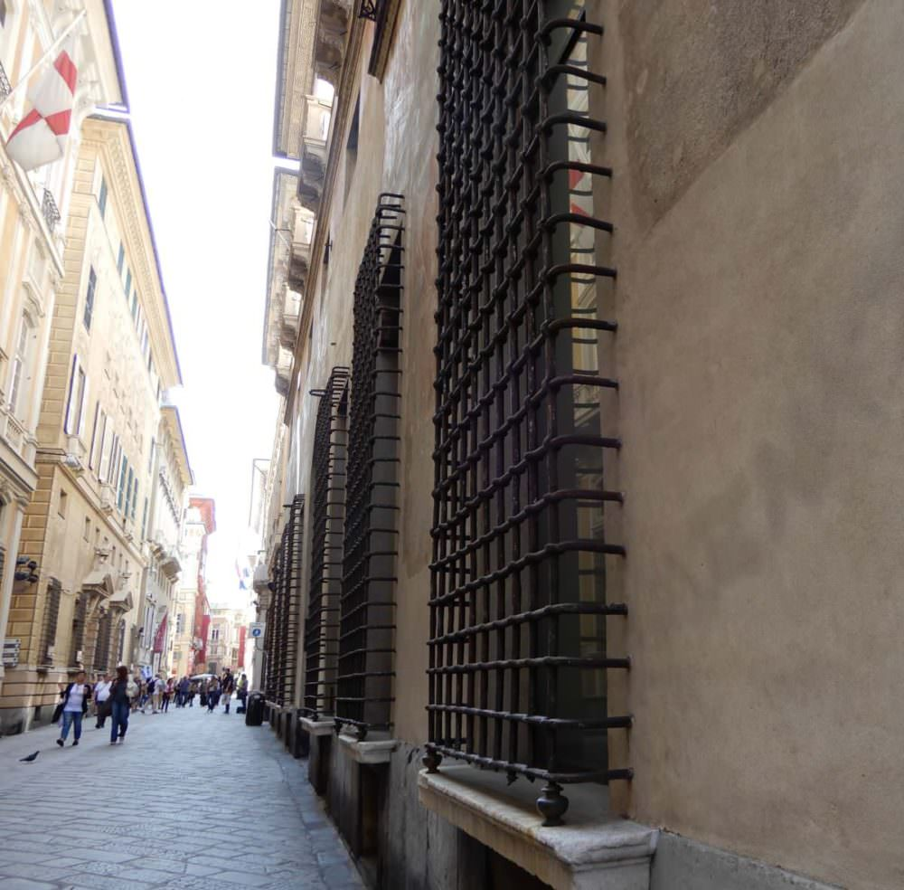 Quite the iron on windows, Genoa, Italy