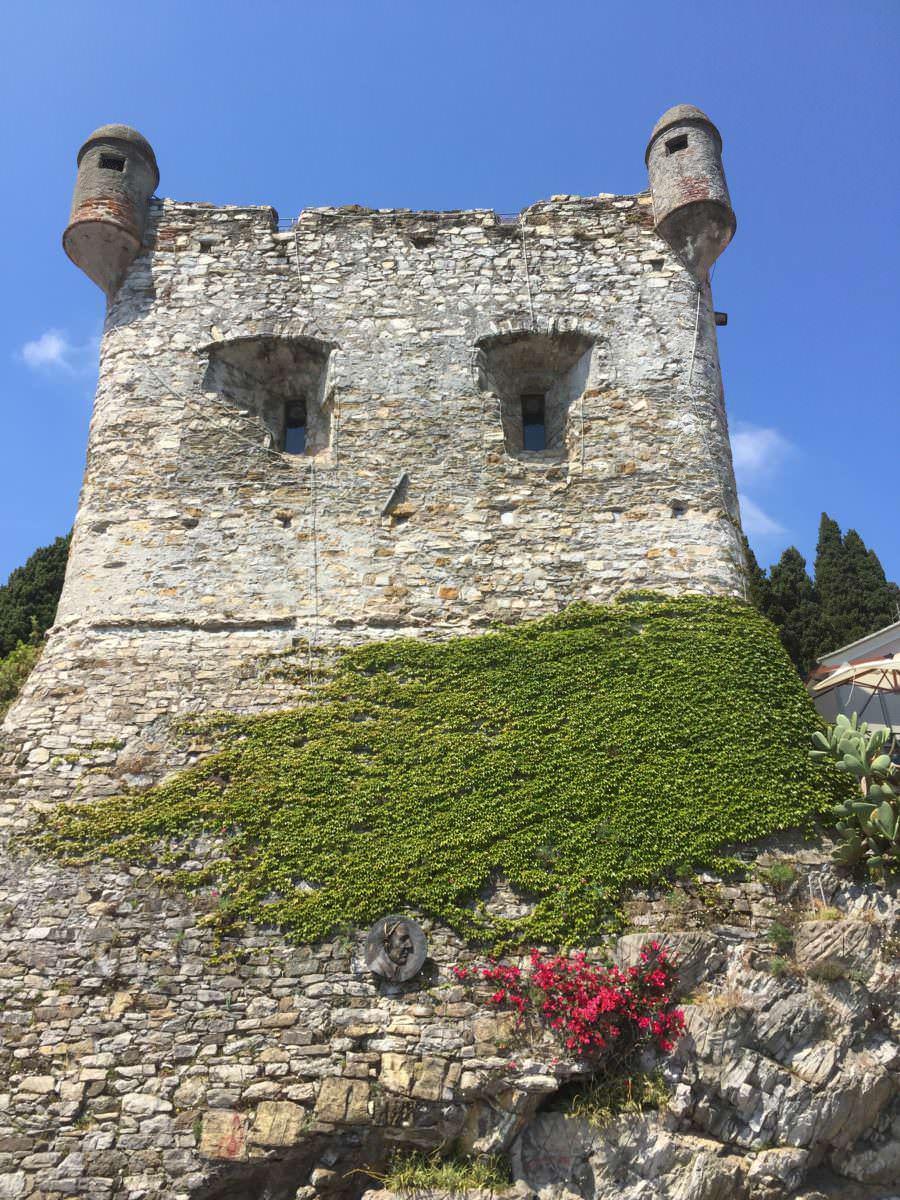 Santa Margherita Castle - looks like a face - Liguria, Italy