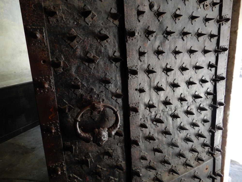 Sharp door, Genoa, Italy