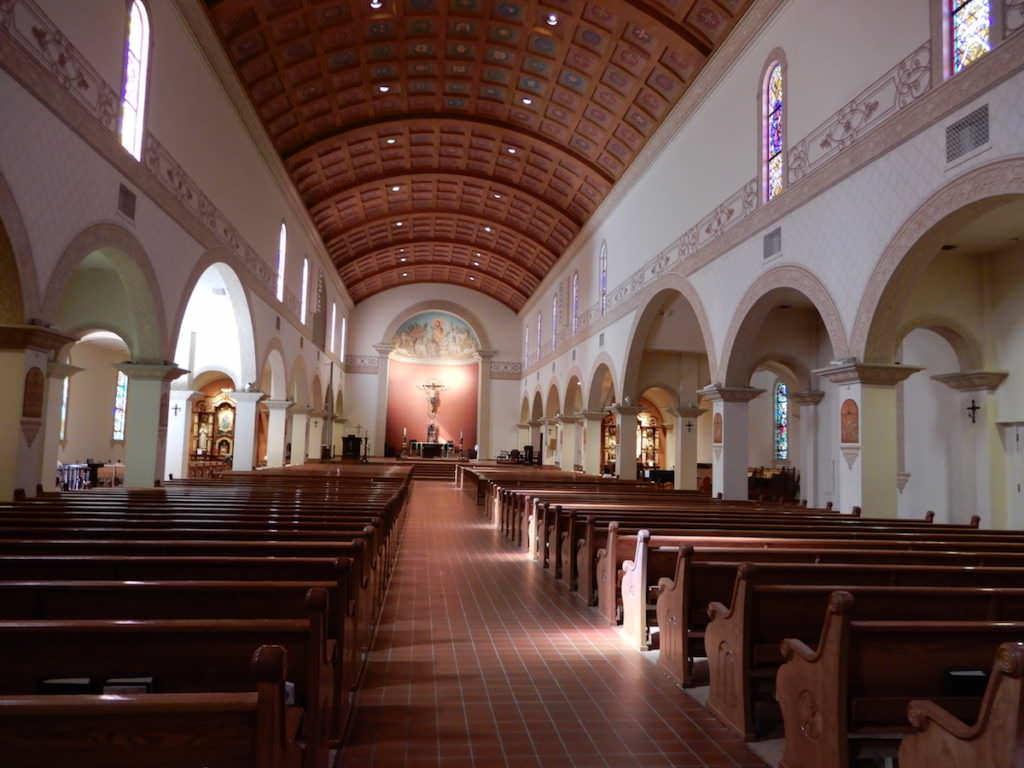 St Augustine, Church interior, Arizona