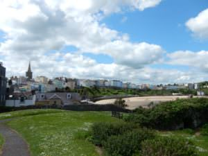 Tenby's stretch of color