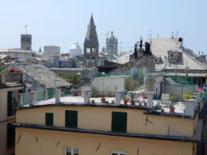 Terrace view from Palazzo Rosso, Genoa