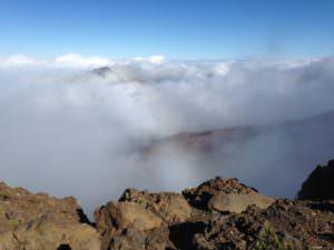Vista and clouds at Haleakala National Park